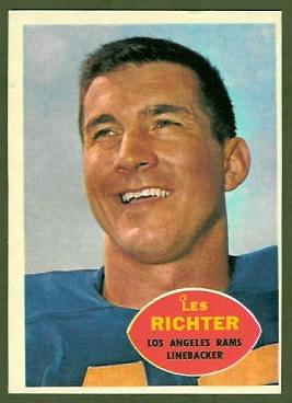 Les Richter 1960 Topps football card