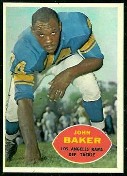 John Baker 1960 Topps football card