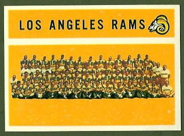 Los Angeles Rams Team 1960 Topps football card