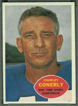 Charley Conerly 1960 Topps football card