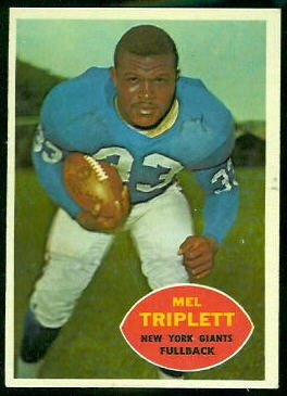 Mel Triplett 1960 Topps football card