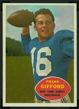 Frank Gifford 1960 Topps football card