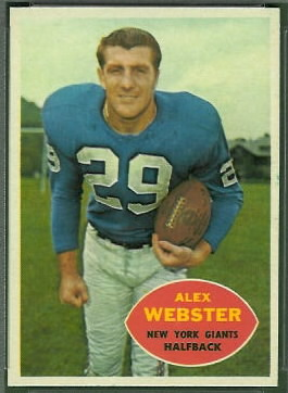 Alex Webster 1960 Topps football card