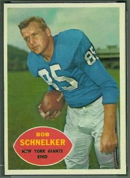 Bob Schnelker 1960 Topps football card