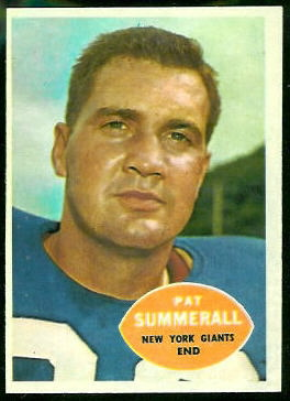 Pat Summerall 1960 Topps football card
