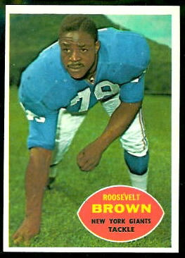 Roosevelt Brown 1960 Topps football card