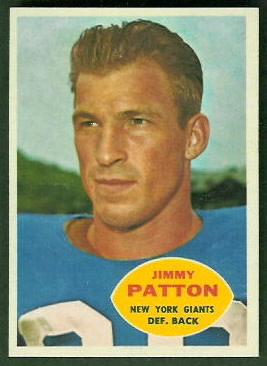 Jim Patton 1960 Topps football card