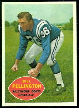 Bill Pellington 1960 Topps football card