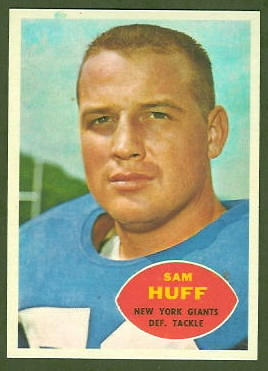 Sam Huff 1960 Topps football card