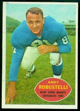 Andy Robustelli 1960 Topps football card