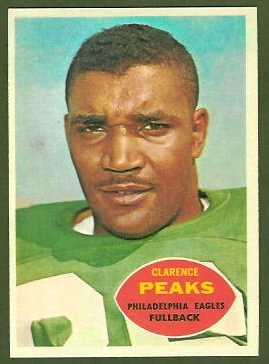 Clarence Peaks 1960 Topps football card