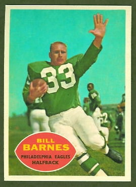 Bill Barnes 1960 Topps football card