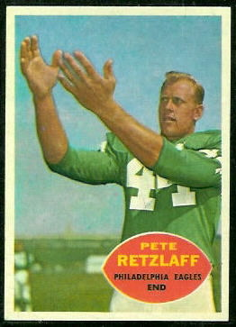 Pete Retzlaff 1960 Topps football card