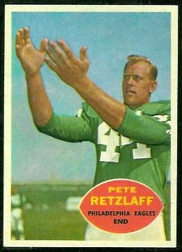 Pete Retzlaff 1960 Topps football card