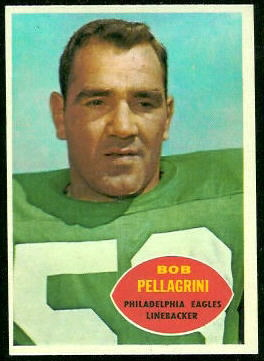 Bob Pellegrini 1960 Topps football card