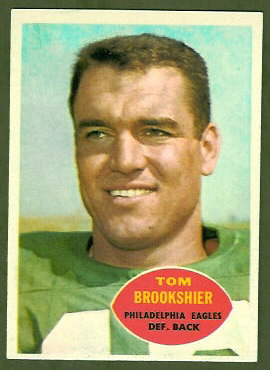 Tom Brookshier 1960 Topps football card