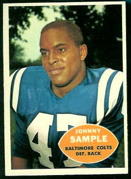 John Sample 1960 Topps football card