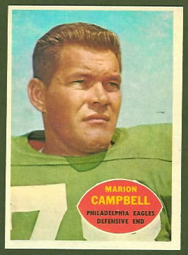 Marion Campbell 1960 Topps football card