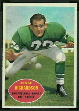 Jesse Richardson 1960 Topps football card