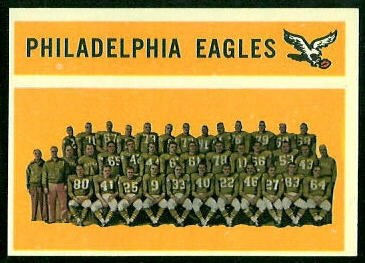 Philadelphia Eagles Team 1960 Topps football card