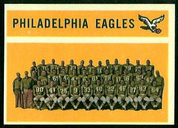 Philadelphia Eagles Team 1960 Topps football card