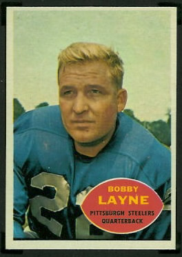 Bobby Layne 1960 Topps football card
