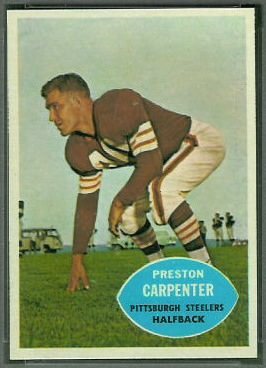 Preston Carpenter 1960 Topps football card