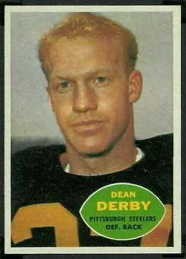 Dean Derby 1960 Topps football card