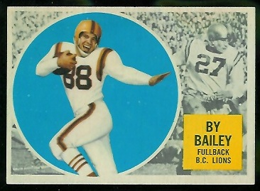 By Bailey 1960 Topps CFL football card