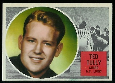 Ted Tully 1960 Topps CFL football card