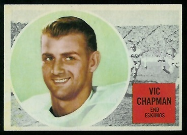 Vic Chapman 1960 Topps CFL football card