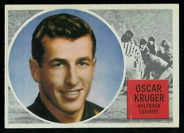 Oscar Kruger 1960 Topps CFL football card