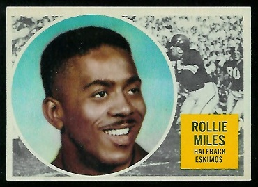 Rollie Miles 1960 Topps CFL football card