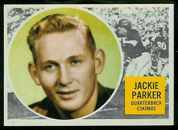 Jackie Parker 1960 Topps CFL football card