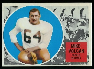 Mike Volcan 1960 Topps CFL football card