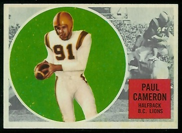 Paul Cameron 1960 Topps CFL football card