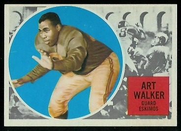 Art Walker 1960 Topps CFL football card