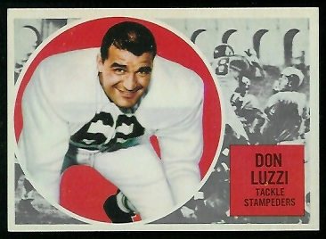 Don Luzzi 1960 Topps CFL football card