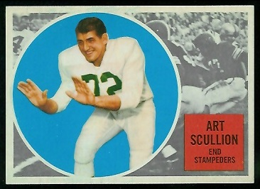 Art Scullion 1960 Topps CFL football card