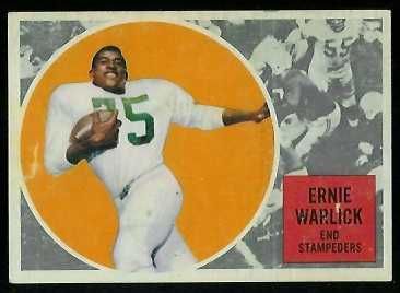 Ernie Warlick 1960 Topps CFL football card