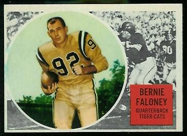 Bernie Faloney 1960 Topps CFL football card