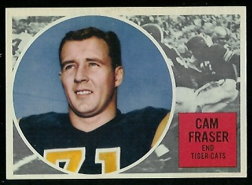 Cam Fraser 1960 Topps CFL football card
