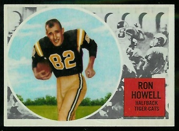 Ron Howell 1960 Topps CFL football card