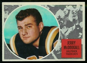 Gerry McDougall 1960 Topps CFL football card