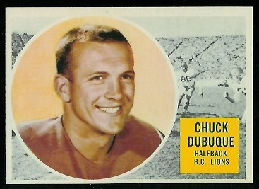 Chuck Dubuque 1960 Topps CFL football card