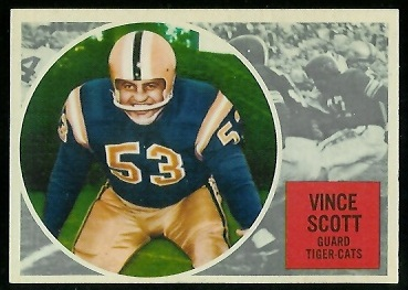 Vince Scott 1960 Topps CFL football card
