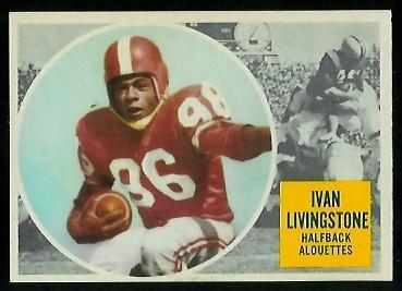 Ivan Livingstone 1960 Topps CFL football card