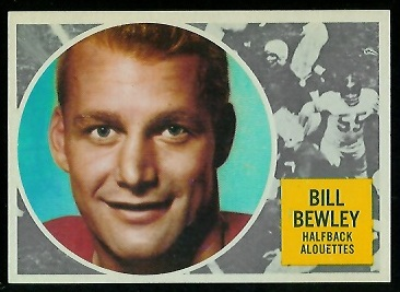 Bill Bewley 1960 Topps CFL football card