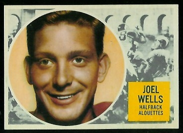 Joel Wells 1960 Topps CFL football card