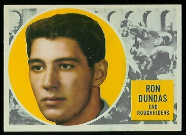 Ron Dundas 1960 Topps CFL football card